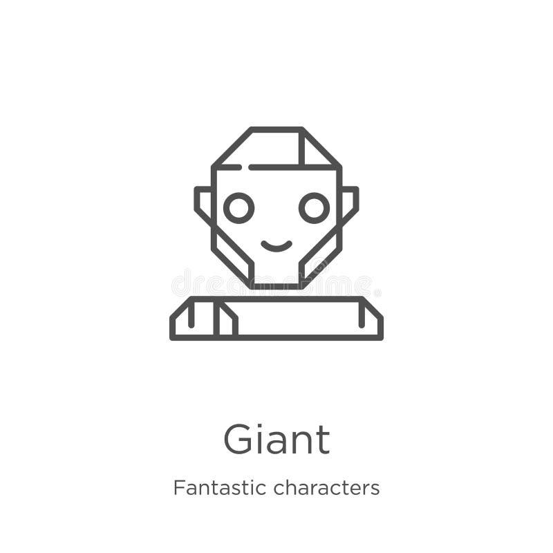 vettore gigante dell'icona dalla raccolta fantastica dei caratteri Linea sottile illustrazione gigante di vettore dell'icona del  illustrazione vettoriale