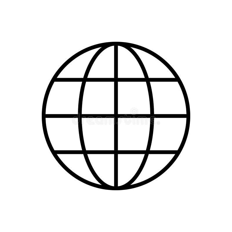 Vettore globale dell'icona del profilo Grafico della rete internet di simbolo di web per il sito Web, applicazione mobile Illustr illustrazione vettoriale
