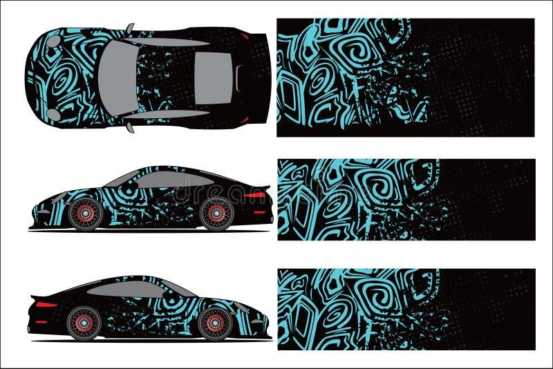 Vettore grafico dell'automobile, forma di corsa astratta con progettazione moderna della corsa per il veicolo royalty illustrazione gratis