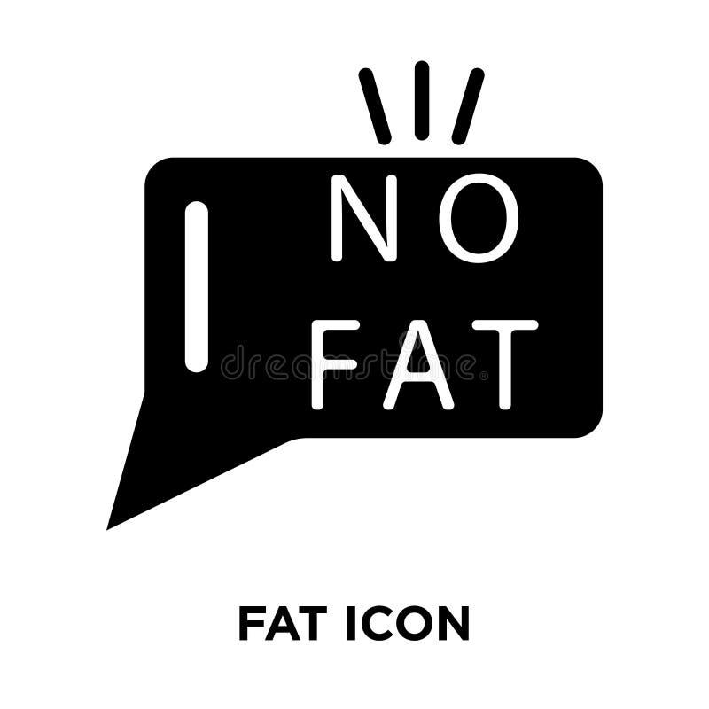 Vettore grasso dell'icona isolato su fondo bianco, concetto di logo del Fa illustrazione di stock