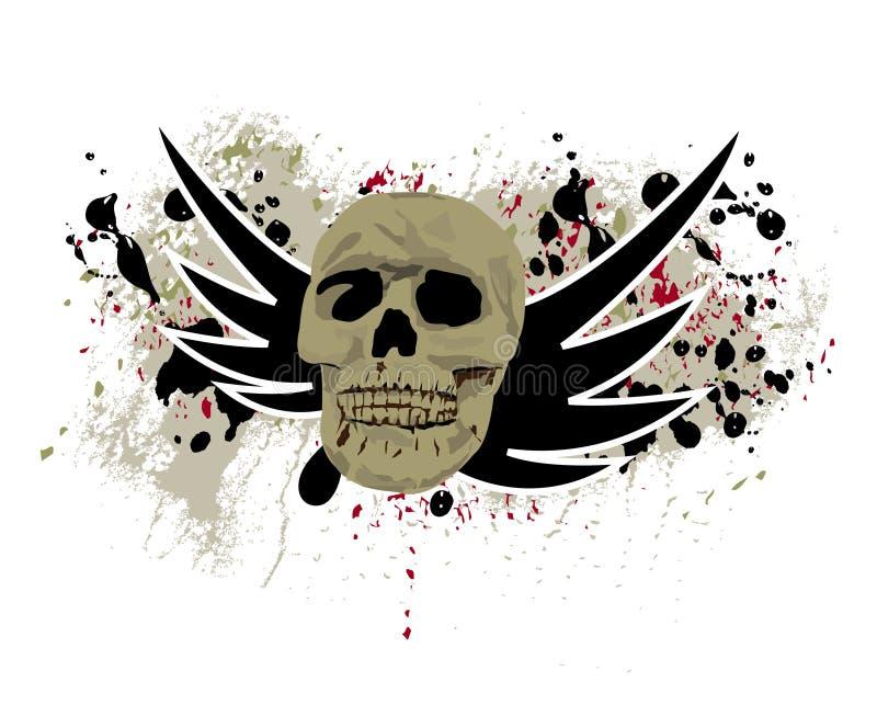 Vettore Grungy del cranio royalty illustrazione gratis