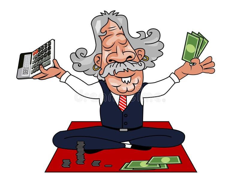 Vettore - Guru come ragioniere illustrazione di stock