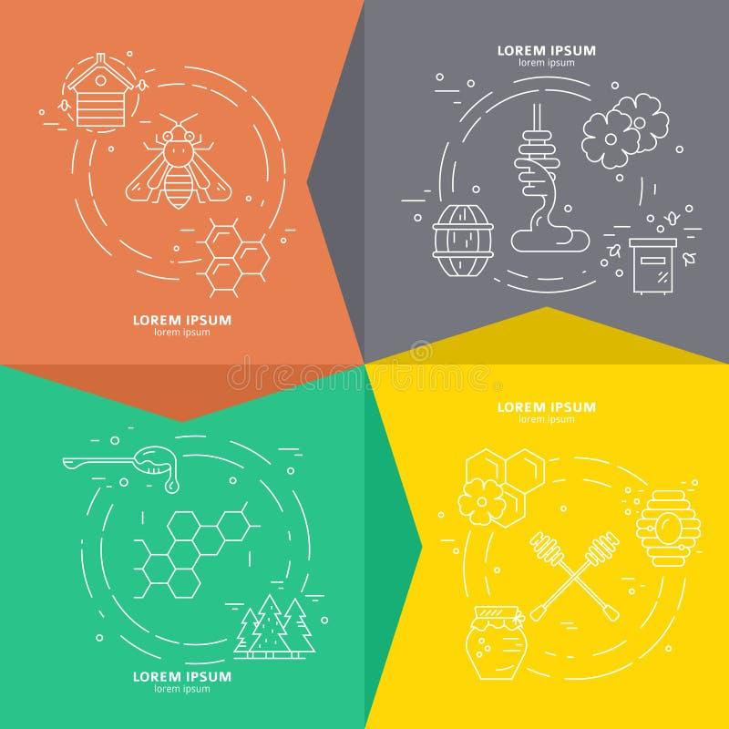 Vettore Honey Banners illustrazione di stock