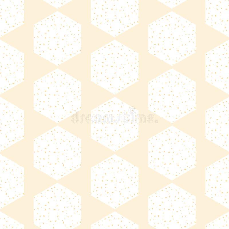 Vettore Honey Comb Abstract nel fondo senza cuciture giallo pastello del modello illustrazione di stock