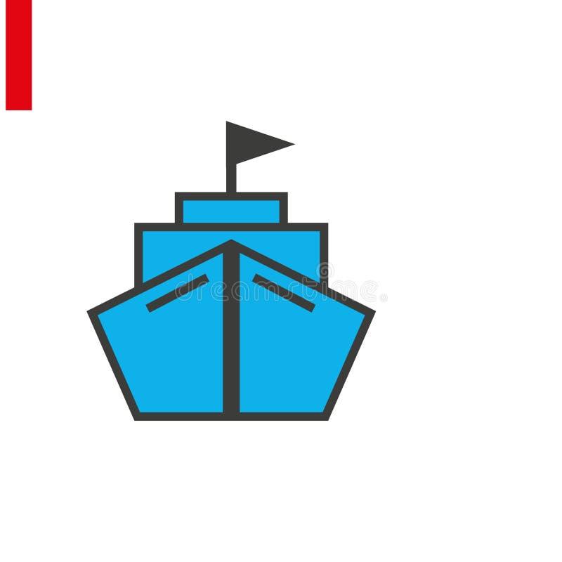 Vettore icona di spedizione Simbolo spedizione Pittogramma contenitore, segno vettore piatto isolato su fondo bianco Vettore semp illustrazione di stock