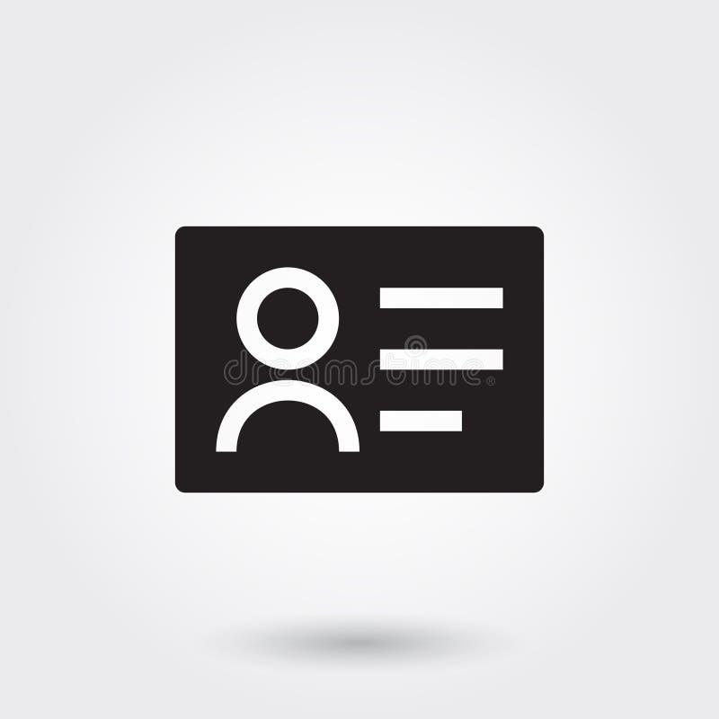 Vettore, icone del biglietto da visita, icona di glifo per qualsiasi scopi royalty illustrazione gratis