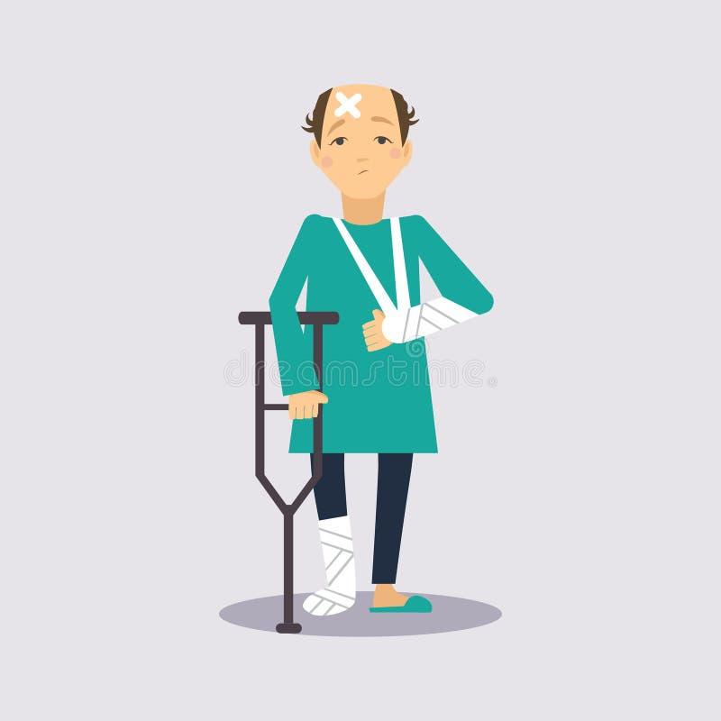 Vettore Illustartion di assicurazione di trauma illustrazione vettoriale