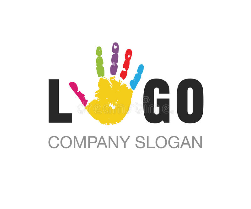Vettore - illustrazione di vettore di logo di istruzione della stampa della mano illustrazione vettoriale