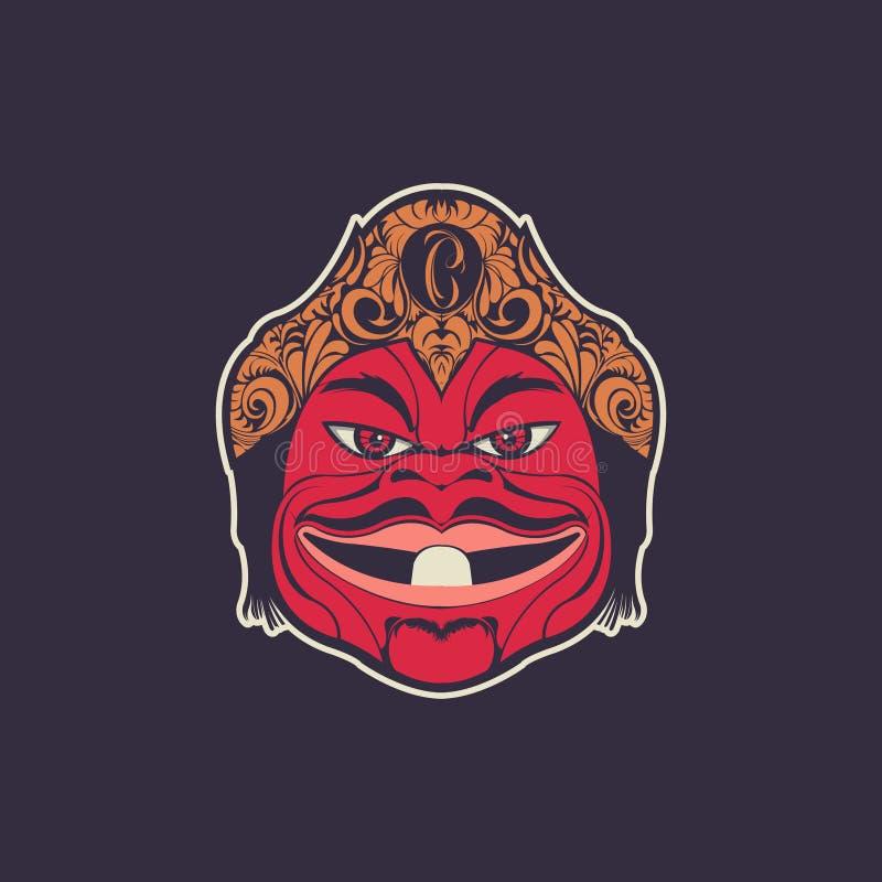 Vettore indonesiano della mascotte del burattino di Cepot fotografia stock