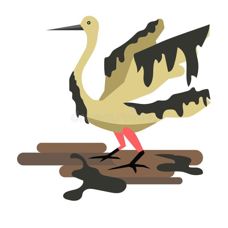 Vettore industriale di inquinamento del petrolio della natura e dell'ambiente royalty illustrazione gratis