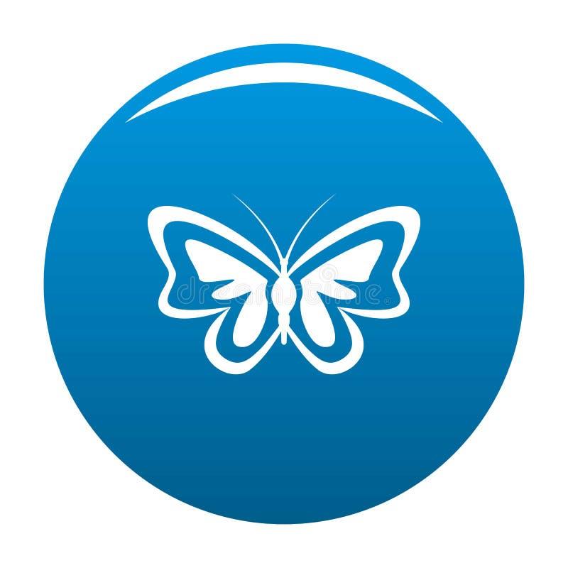 Vettore insolito del blu dell'icona della farfalla royalty illustrazione gratis