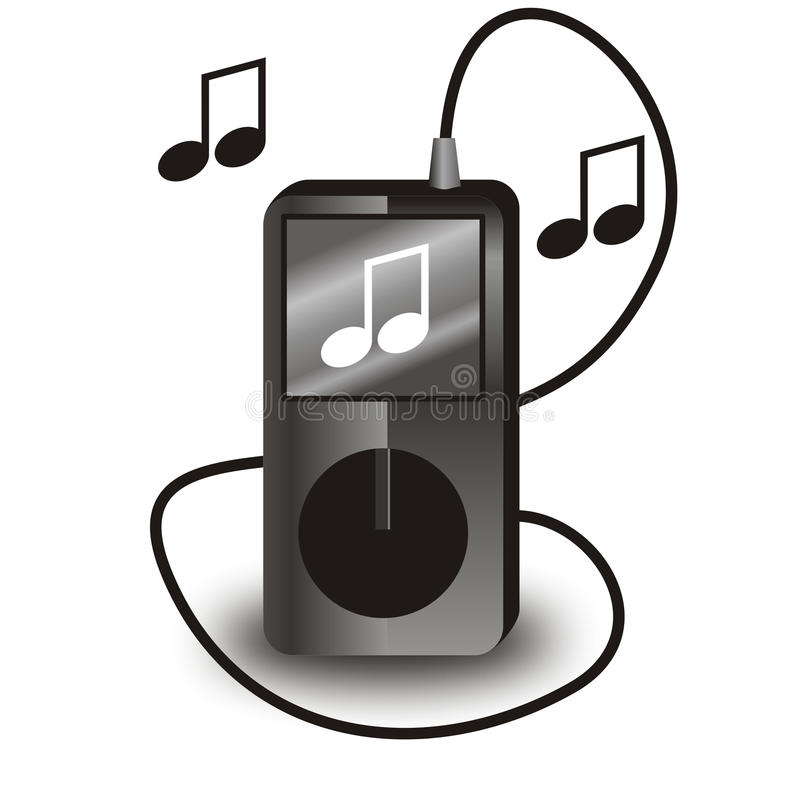 Vettore iPod nero