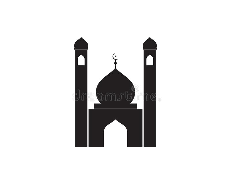 Vettore islamico del modello di logo della moschea illustrazione vettoriale