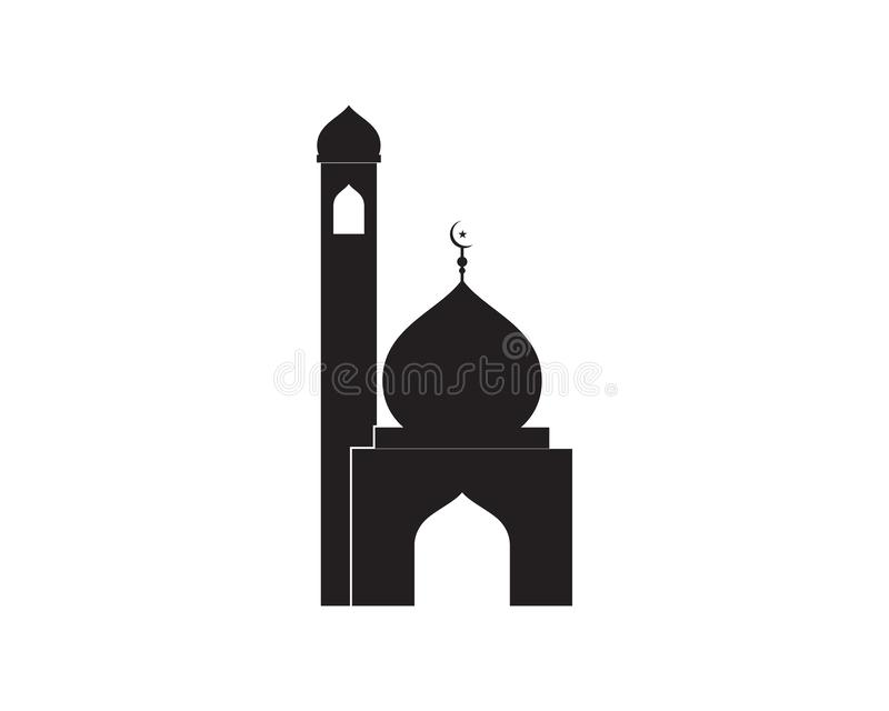 Vettore islamico del modello di logo della moschea royalty illustrazione gratis