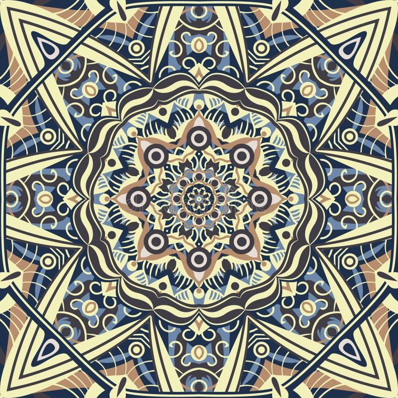 Vettore islamico dell'ornamento, motiff persiano Elementi rotondi c del modello illustrazione di stock