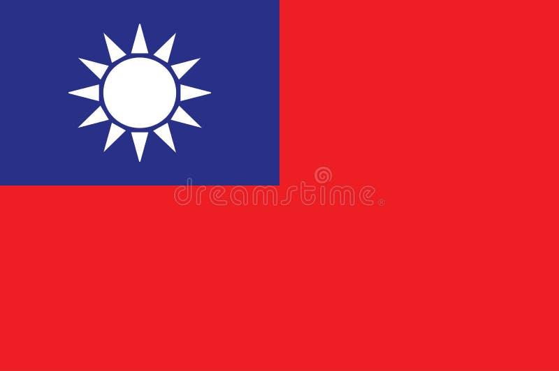 vettore isolato bandiera originale e semplice Repubblica Cinese/di Taiwan nei colori e nella proporzione ufficiali correttamente royalty illustrazione gratis
