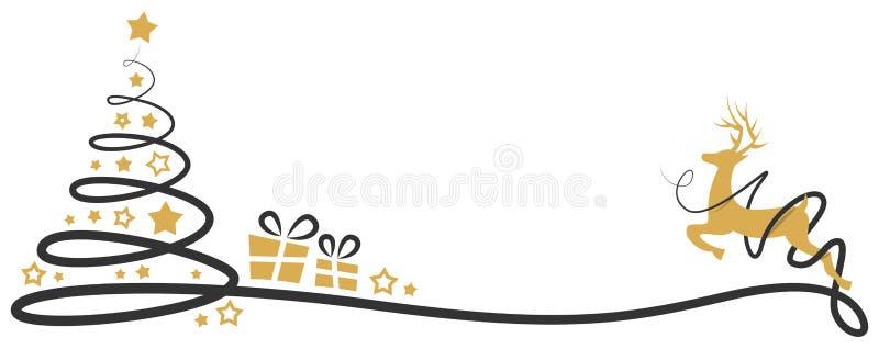Vettore isolato disegno di vettore dell'albero di Natale illustrazione vettoriale