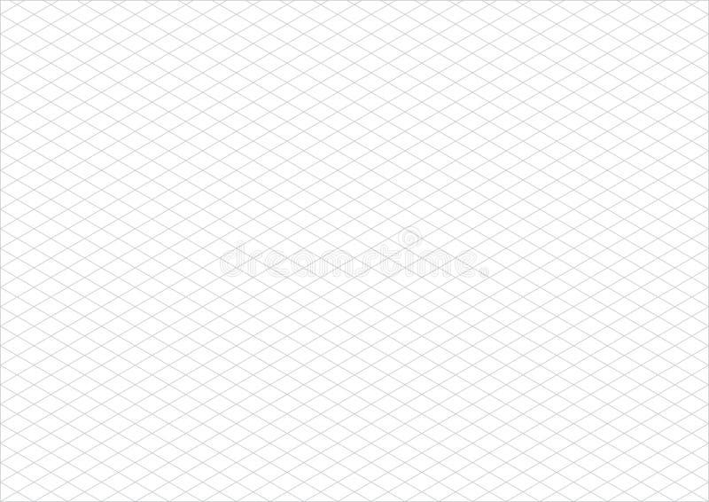 Vettore isometrico del paesaggio della carta a3 di griglia illustrazione di stock