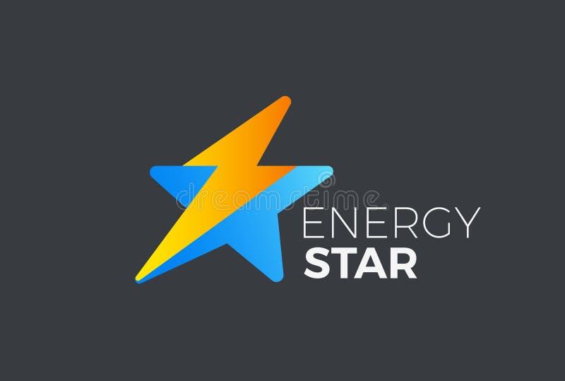 Vettore istantaneo di logo di colpo di fulmine della stella Energia L di velocità royalty illustrazione gratis