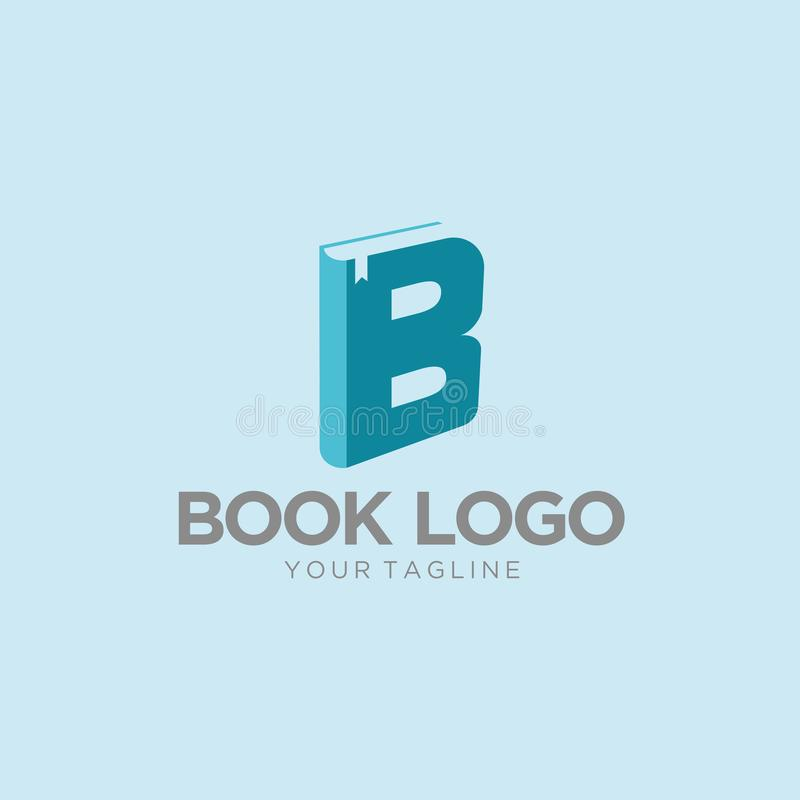 Vettore libero di logo del libro illustrazione di stock