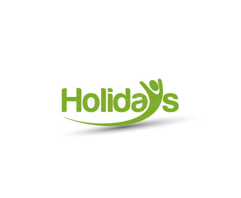 Vettore Logo Design di festa illustrazione di stock