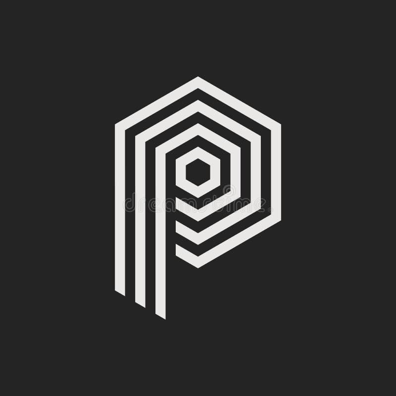 Vettore Logo Letter P royalty illustrazione gratis