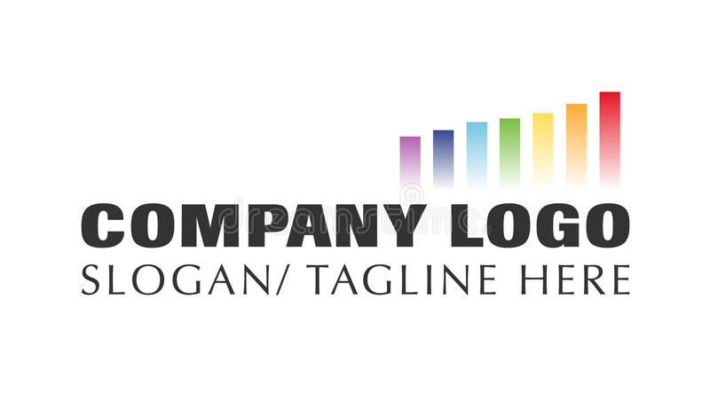 Vettore - logo moderno della società di affari di finanza, isolato su fondo bianco Illustrazione di vettore illustrazione di stock
