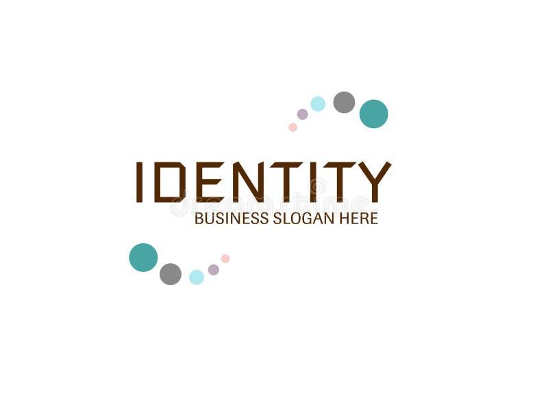 Vettore - logo moderno di affari di identità, isolato su fondo bianco Illustrazione di vettore royalty illustrazione gratis
