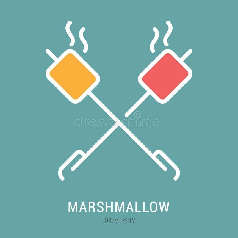 Vettore Logo Template Marshmallow semplice illustrazione di stock
