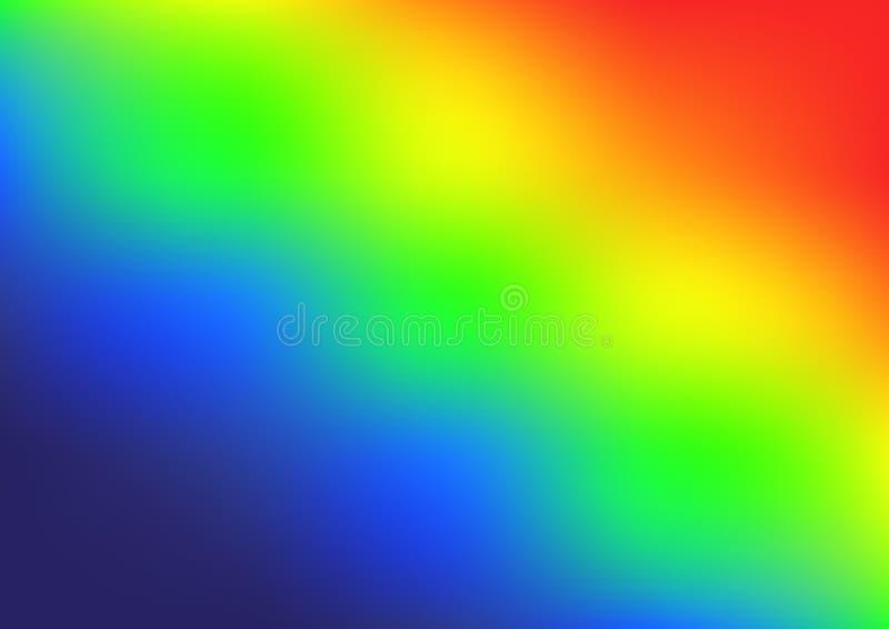Vettore luminoso di pendenza di colori dell'arcobaleno illustrazione di stock
