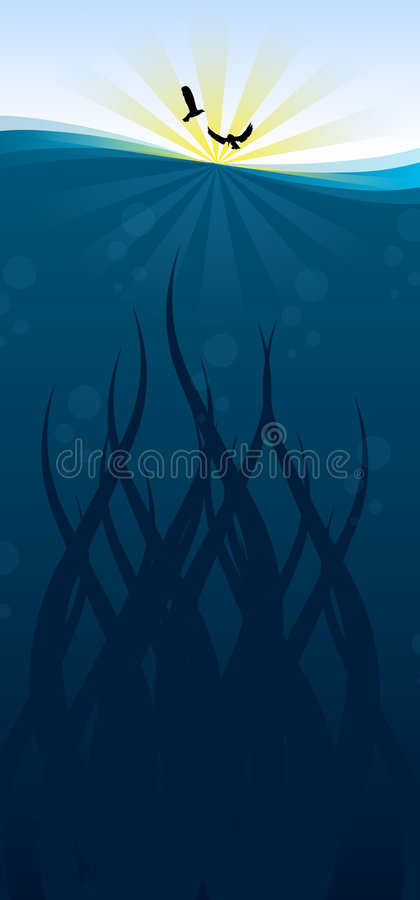 Vettore - mare illustrazione vettoriale