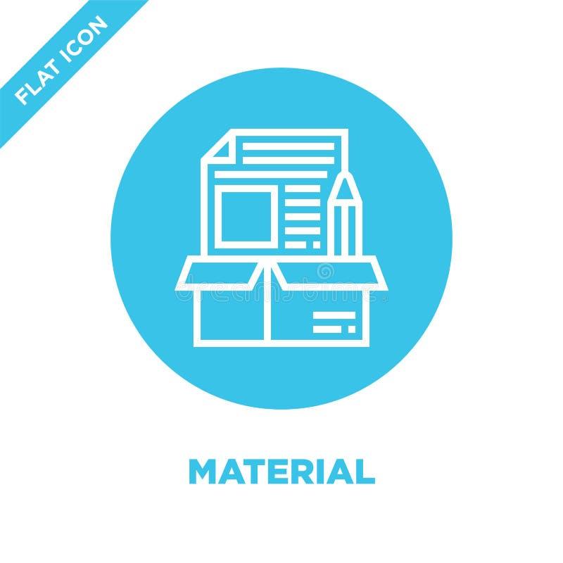 vettore materiale dell'icona Linea sottile illustrazione materiale di vettore dell'icona del profilo simbolo materiale per uso su royalty illustrazione gratis
