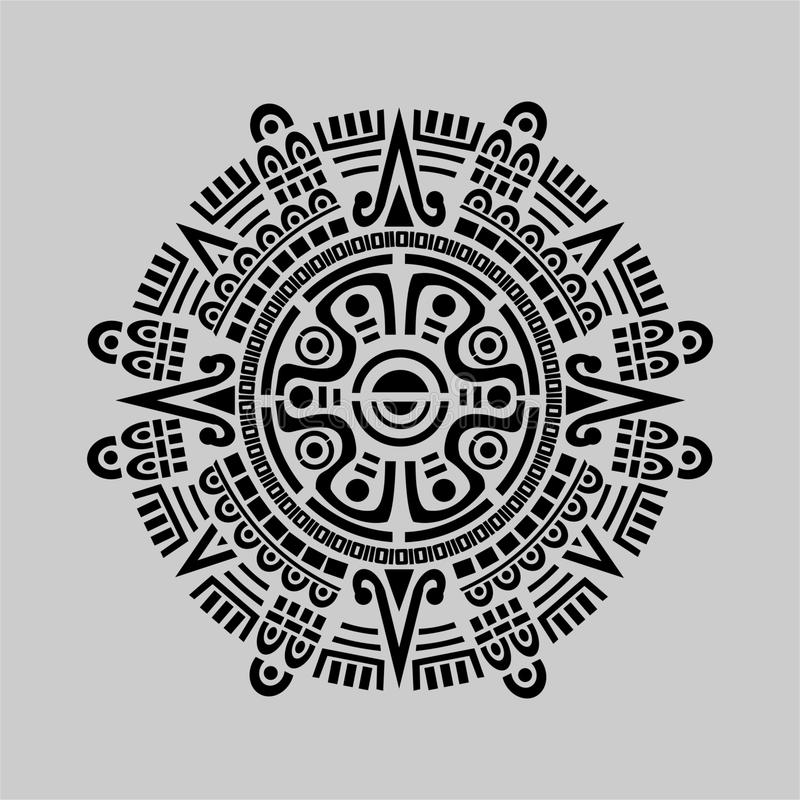 Vettore maya del calendario illustrazione vettoriale