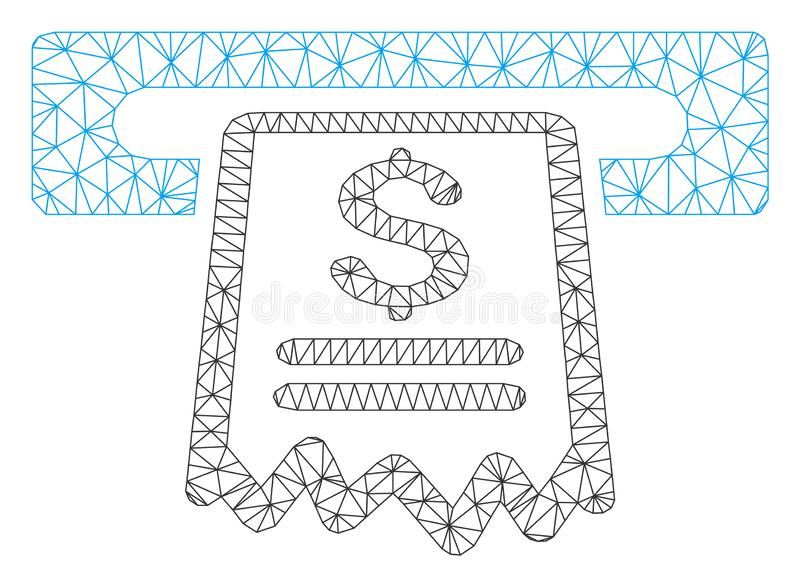 Vettore Mesh Illustration di Receipt Polygonal Frame del cassiere royalty illustrazione gratis