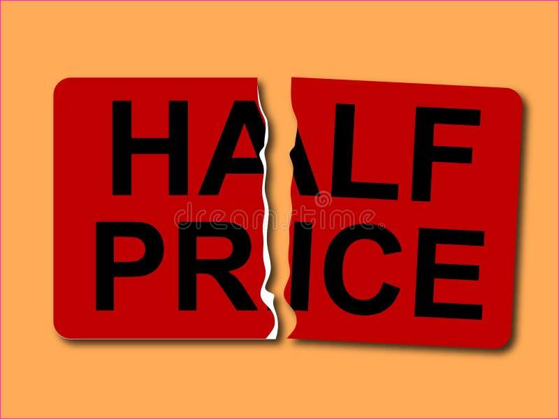 Vettore mezzo dell'autoadesivo di prezzi illustrazione di stock