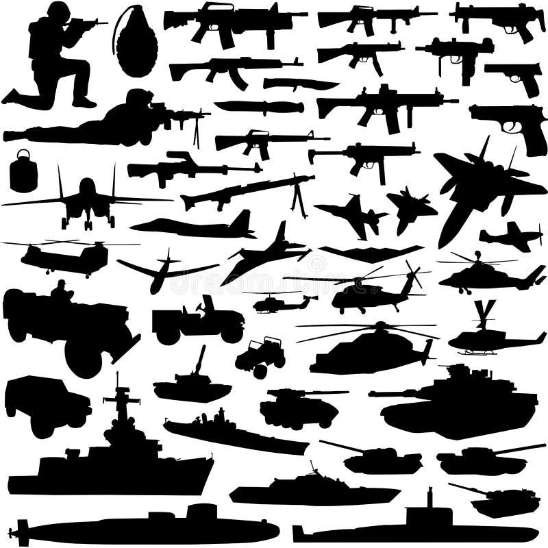 Vettore militare degli oggetti illustrazione vettoriale