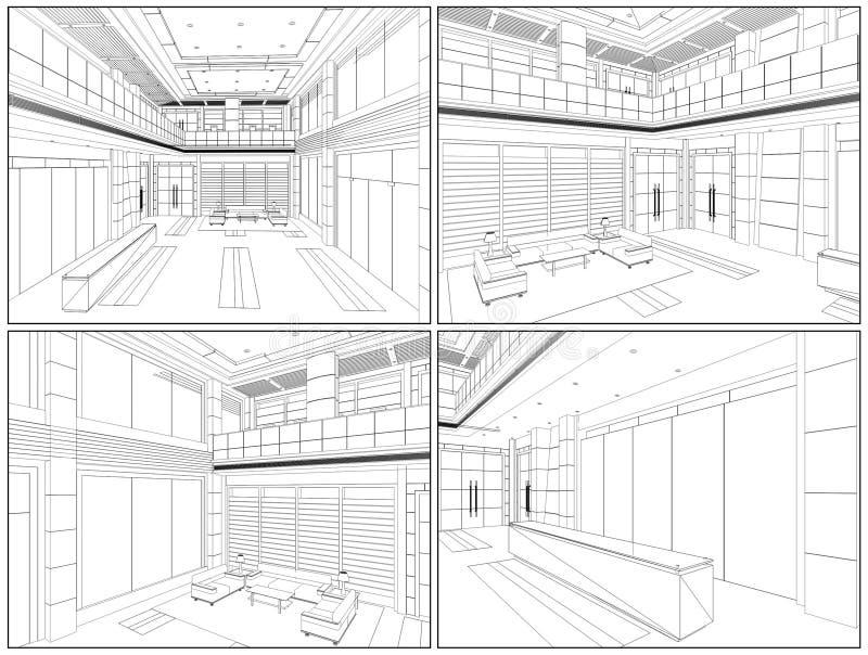 Vettore moderno 07 del Corridoio royalty illustrazione gratis