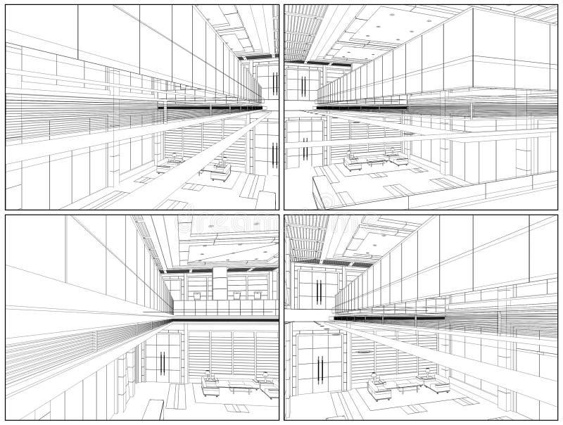 Vettore moderno 08 del Corridoio royalty illustrazione gratis