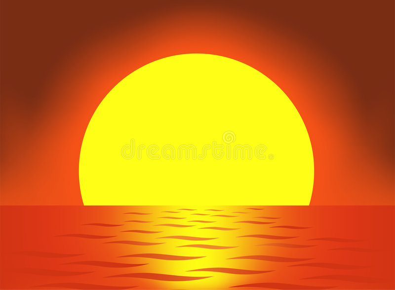 Vettore molto grande del sole illustrazione vettoriale
