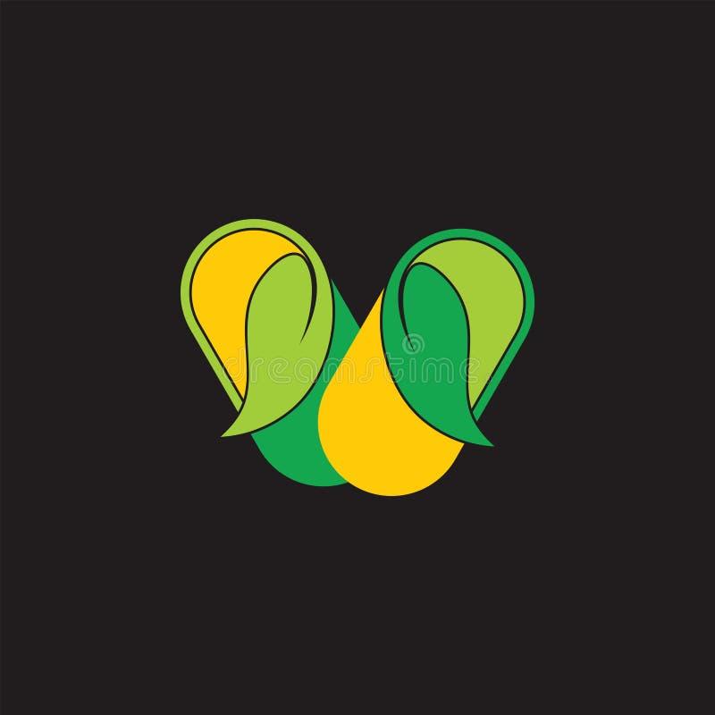 Vettore naturale di logo di simbolo della medicina della capsula due royalty illustrazione gratis