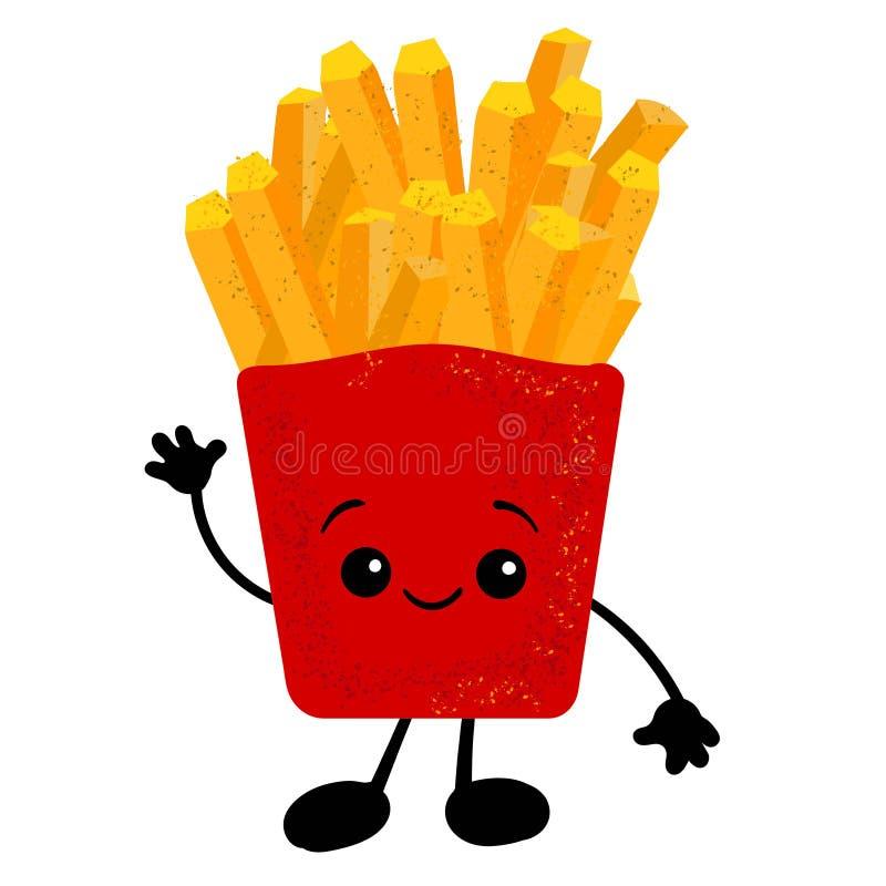 Vettore nazionale di giorno della patata fritta Secchio con le icone delle patate fritte Alimento americano di festa Festa nazion illustrazione di stock