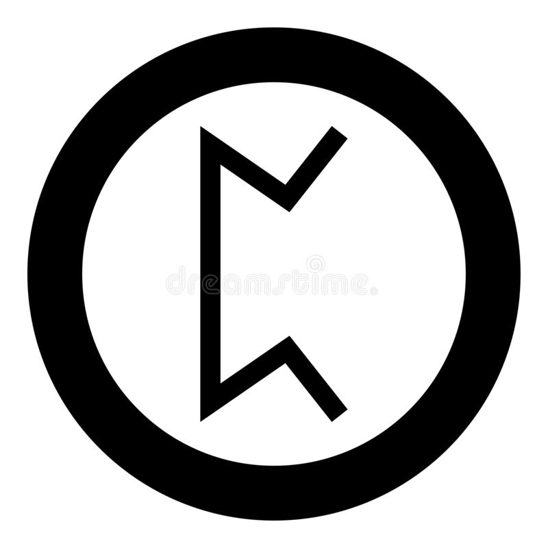 Vettore nero di colore dell'icona di simbolo nascosto pera del gioco di pertho della runa di Perth nell'immagine piana di stile d illustrazione di stock