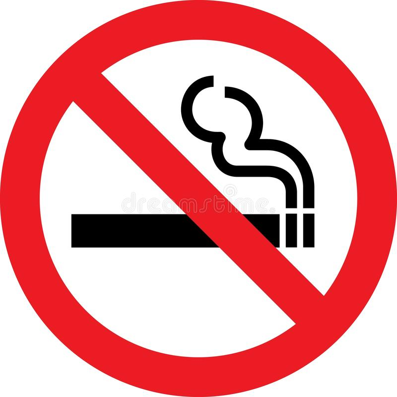 Vettore non fumatori illustrazione vettoriale