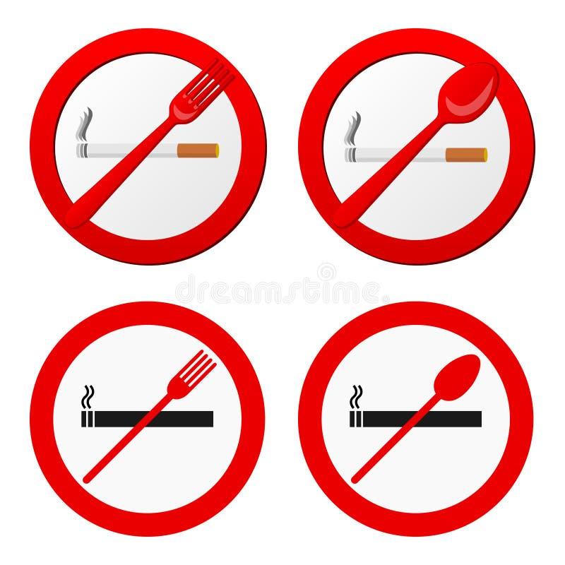 Vettore non fumatori del segno royalty illustrazione gratis