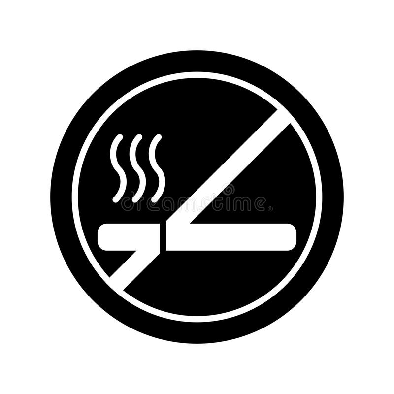 Vettore non fumatori del segno linea stile royalty illustrazione gratis