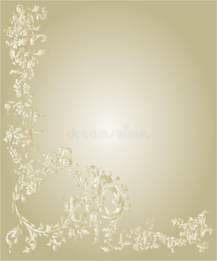 Vettore ornamentale decorativo di colore dell'oro della pagina royalty illustrazione gratis