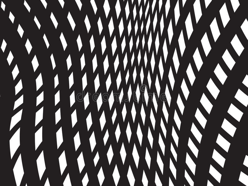 Download Vettore Ottico Bianco Nero Del Fondo Di Progettazione Del Modello Illustrazione Vettoriale - Illustrazione di geometrico, illusione: 55363121