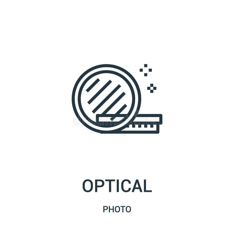 vettore ottico dell'icona dalla raccolta della foto Linea sottile illustrazione ottica di vettore dell'icona del profilo Simbolo  illustrazione vettoriale