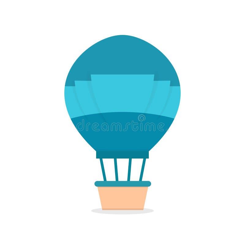 Vettore palloncino ad aria calda realistico, icona a palloncino piatto illustrazione vettoriale
