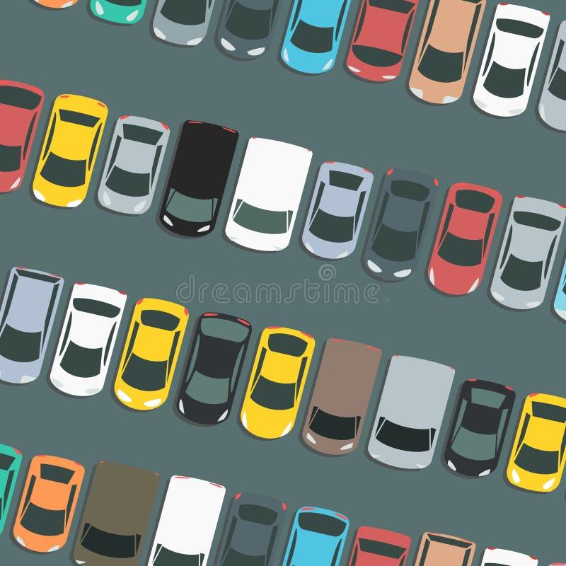 Vettore parcheggiato delle automobili illustrazione vettoriale